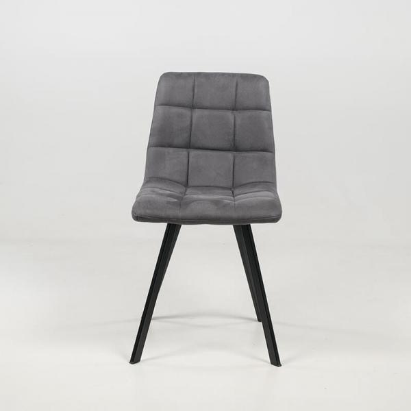 Chaise grise matelassée en tissu style moderne - Carvi - 4