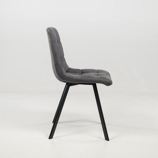 Chaise moderne matelassée en tissu gris clair  - Carvi - 5