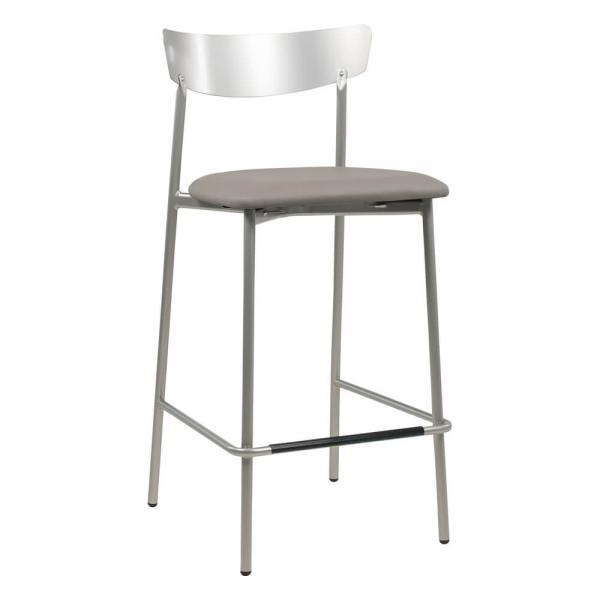 Tabouret hauteur snack de cuisine assise rembourrée - Clip - 23