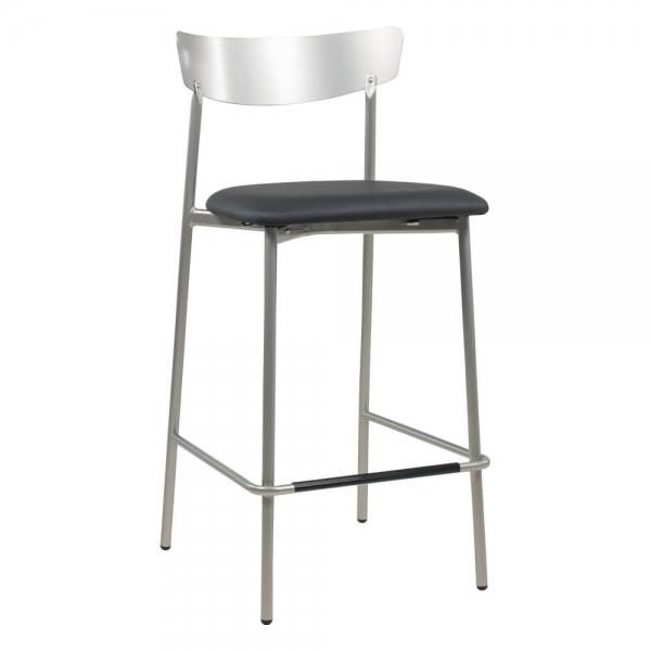 Tabouret hauteur snack moderne de cuisine assise rembourrée - Clip - 24