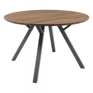 Table ronde moderne de salle à manger plateau naturel - Eros