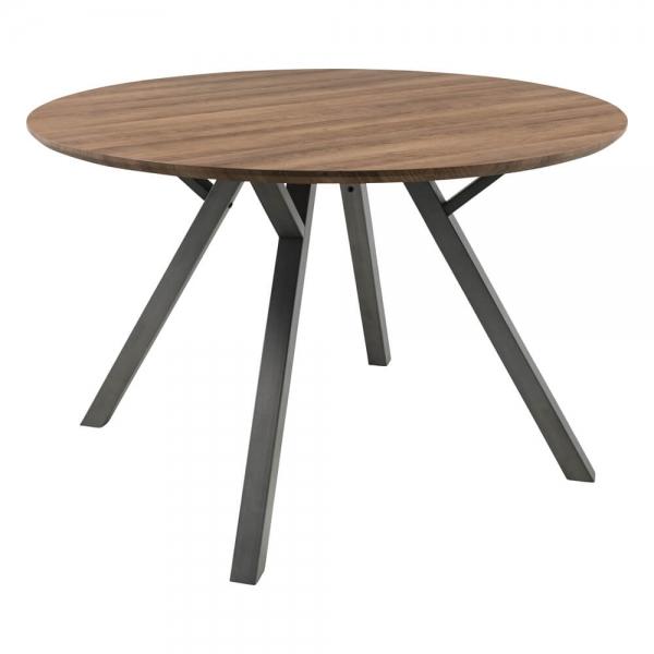 Table ronde moderne de salle à manger plateau naturel - Eros - 1