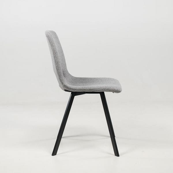 Chaise en tissu gris style moderne structure en métal - Pepper - 13