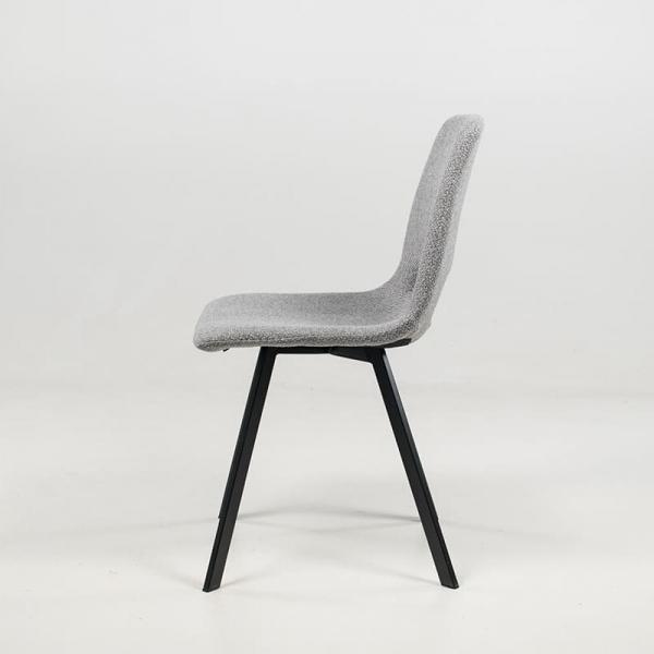 Chaise en tissu gris style moderne structure en métal - Pepper - 14