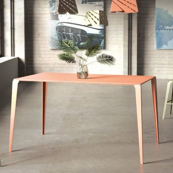 Table snack industrielle rectangulaire pour jardin en métal - Valence - 2
