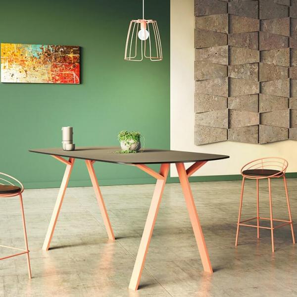 Piétement de table en métal design made in France - Wasabi - 3