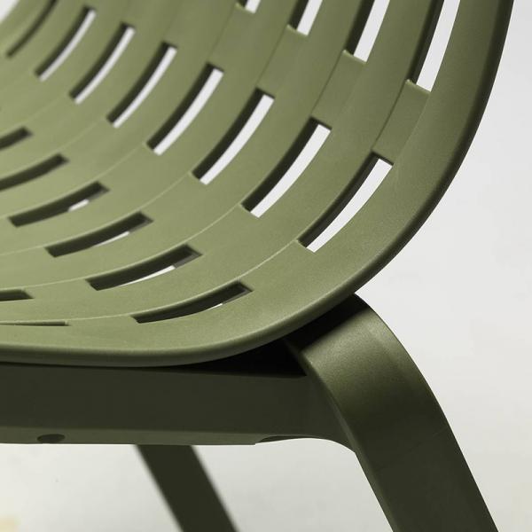 Fauteuil design italien en polypropylène vert - Folio - 9
