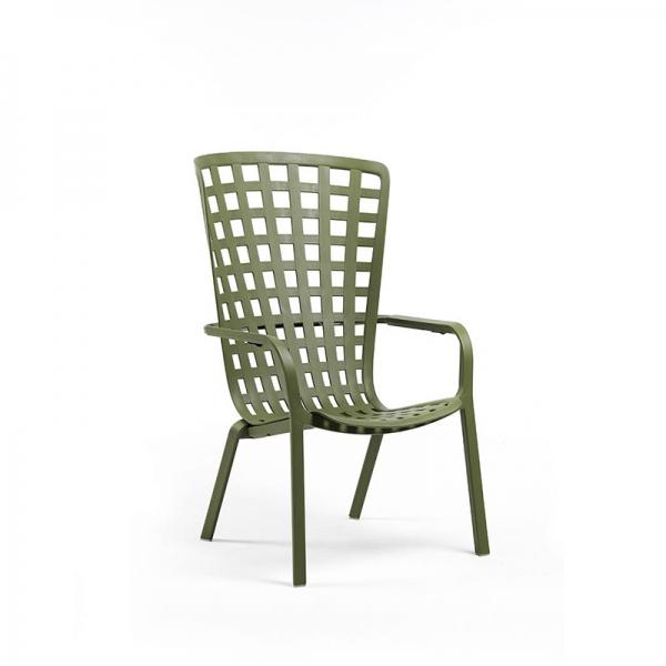 Fauteuil de jardin design empilable vert - Folio - 2