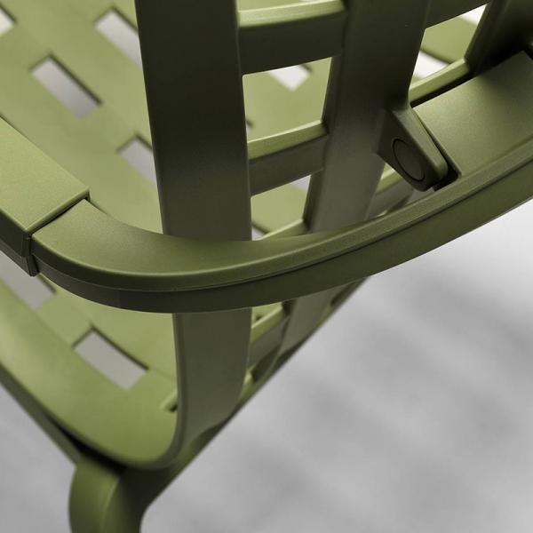 Fauteuil à bascule design d'extérieur inclinable en plastique vert– Folio - 8