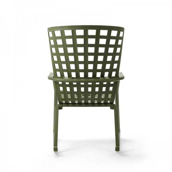 Rocking-chair design de jardin empilable et inclinable vert – Folio - 5
