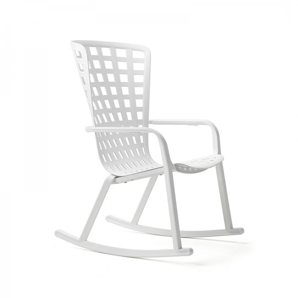 Rocking-chair design jardin empilable et inclinable en polypropylène blanc - Folio - 11