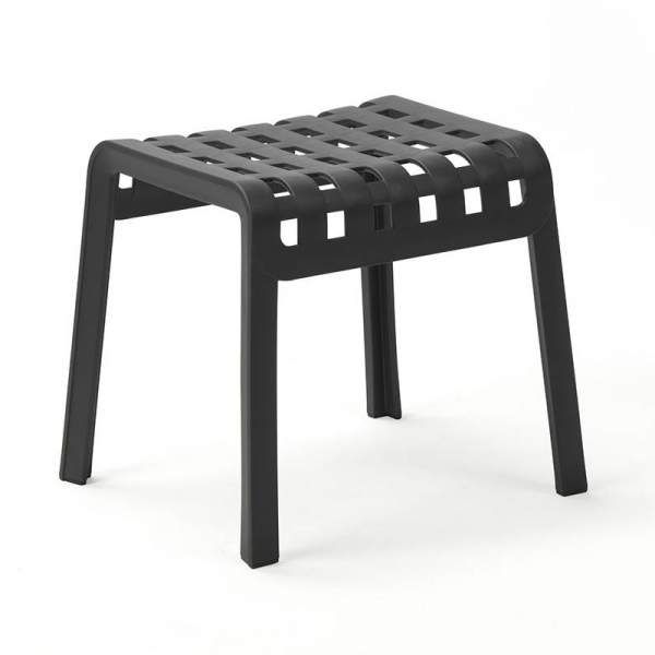 Tabouret bas extérieur design empilable en polypropylène noir - Poggio - 5