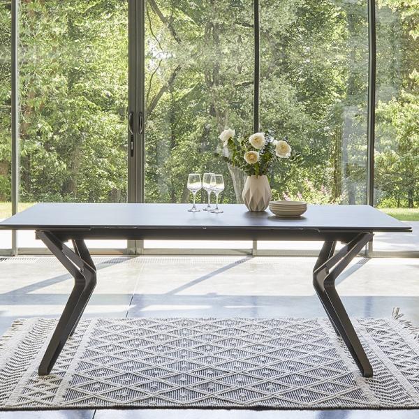 Table moderne avec rallonges en céramique  - 2