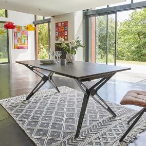 Table céramique design extensible pieds en X
