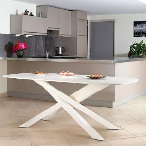 Pied de table mikado en métal fabrication française - Zoé Carrier®