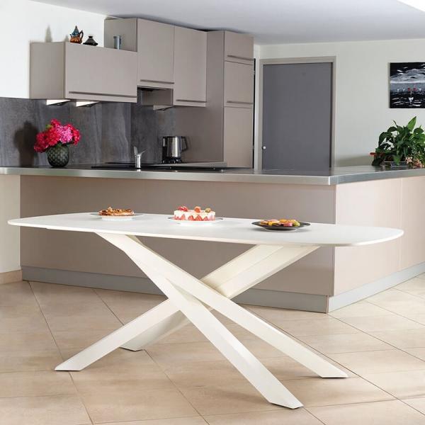 Pied de table mikado en métal fabrication française - Zoé Carrier® - 1
