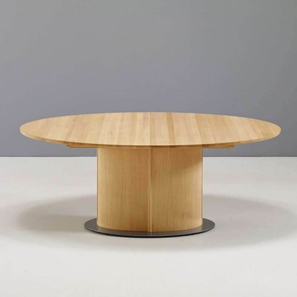 Table ovale en bois clair avec allonge - SM72-73 - 4