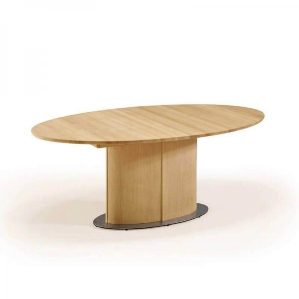 Table ovale en bois clair avec allonge - SM72-73 - 3