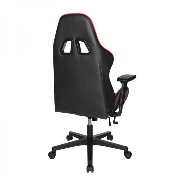 Chaise gamer rouge et noire avec roulettes - Speed chair 2 - 4