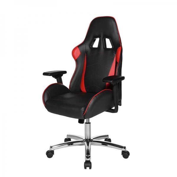 Siège de gaming noir et rouge avec structure chromée - Speed chair - 17