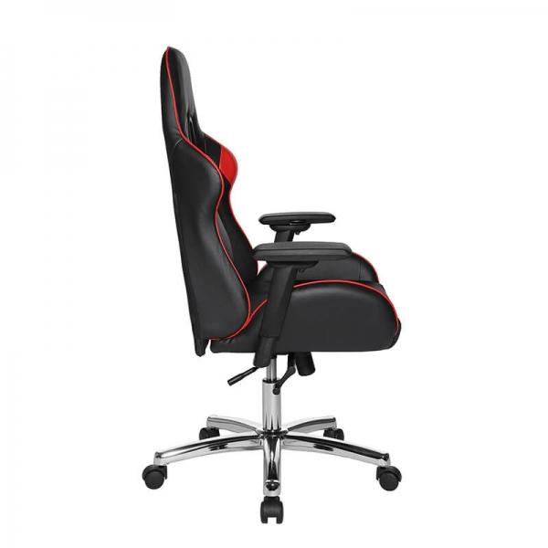 Chaise de gamer confortable avec roulettes noir et rouge - Speed chair 2 - 19