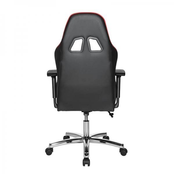 Siège gaming noir et rouge avec strucutre chromée - Speed chair 2 - 20