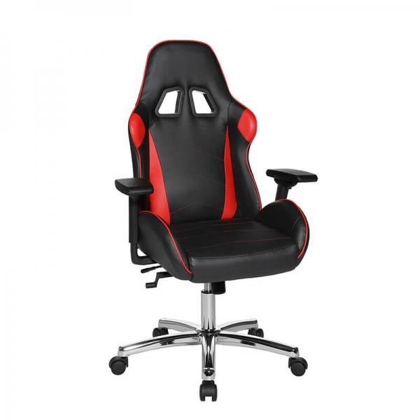 Fauteuil ergonomique gaming rouge et noir - Speed chair 2 - 21