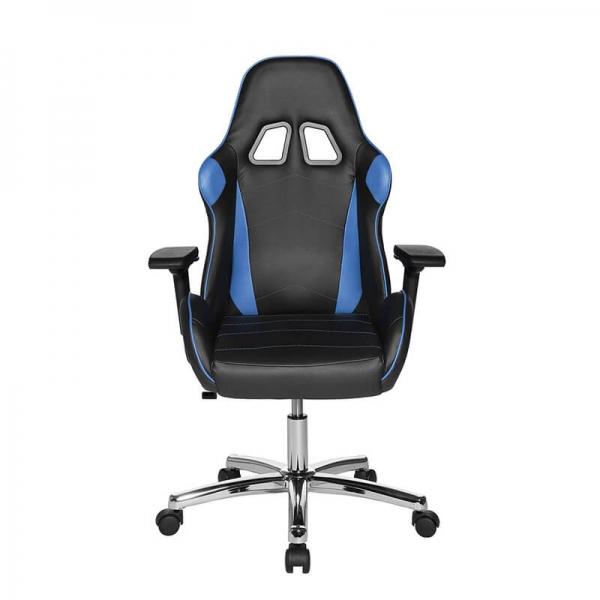Chaise d'ordinateur ergonomique pour gamer revêtement noir et bleu - Speed chair 2 - 23