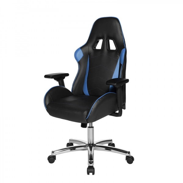 Chaise esport noire et bleue - Speed chair 2  - 24