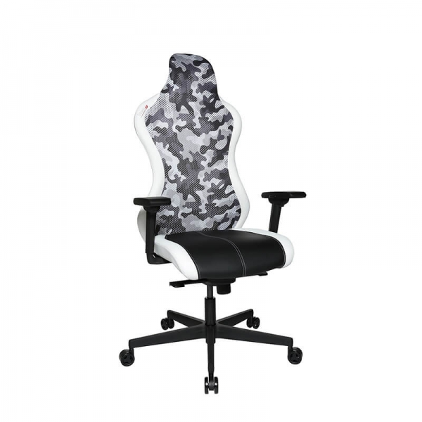 Fauteuil de gamer en camouflage blanc - Sitness - 1