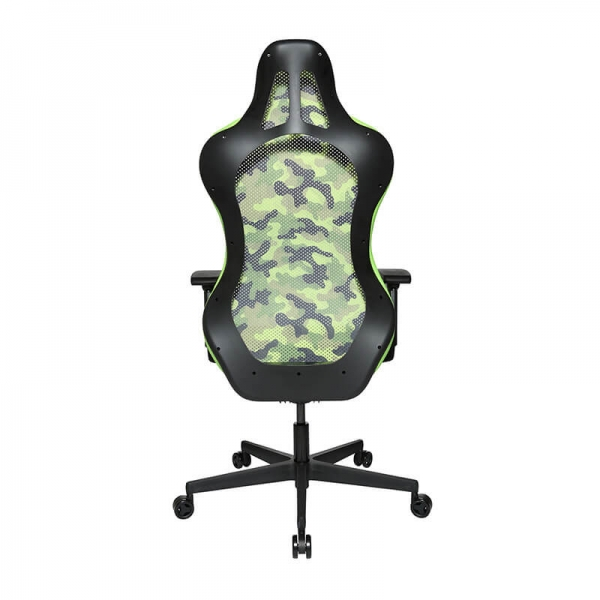 Chaise gaming design dossier filet camouflage vert - Sitness - 24