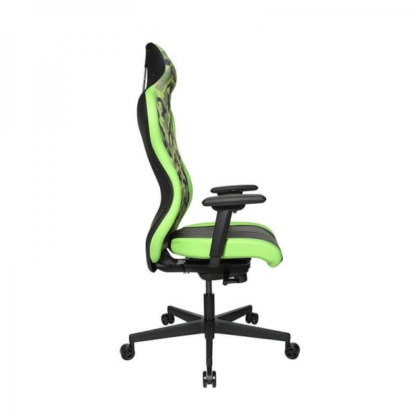 Chaise e-sport tissu camouflage vert - Sitness - 26