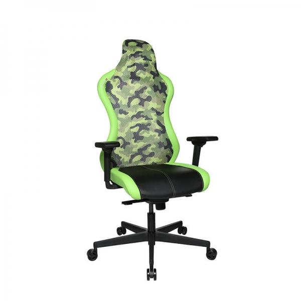 Fauteuil de bureau gaming ergonomique vert - Sitness - 27