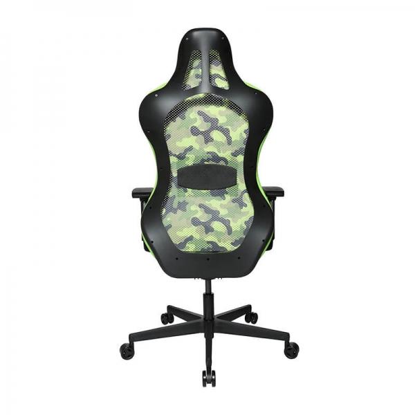 Chaise de gaming avec dossier en tissu respirant vert - Sitness - 29