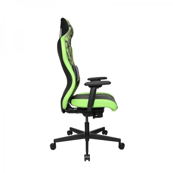 Chaise pour jeux vidéo revêtement vert et noir - Sitness - 31