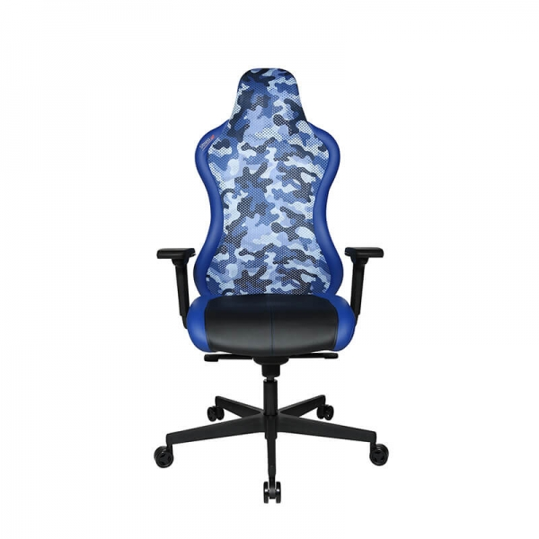 Chaise gamer inclinable bleue - Sitness - 33
