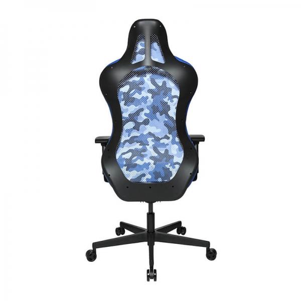 Chaise gamer ergonomique effet camouflage bleu - Sitness - 34