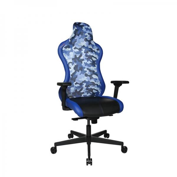 Fauteuil gamer design bleu réglable - Sitness - 37