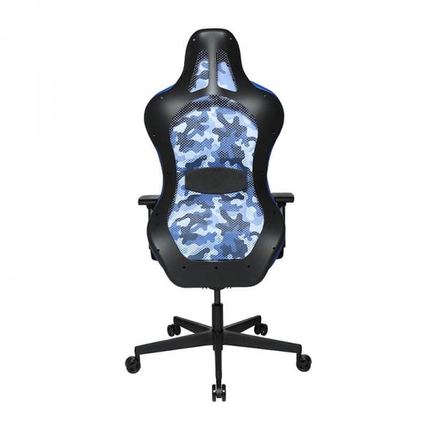 Chaise de bureau ergonomique style gaming bleu et noir - Sitness - 39