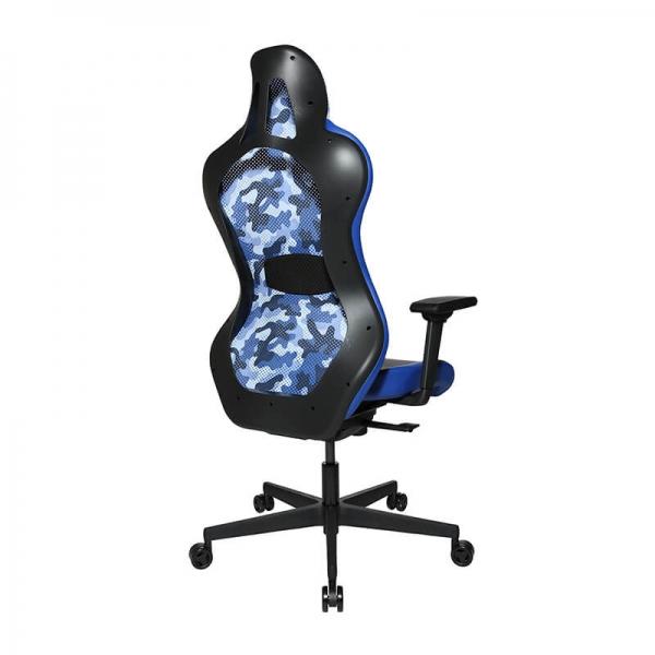 Chaise ordinateur gamer dossier tissu respirant bleu - Sitness - 40