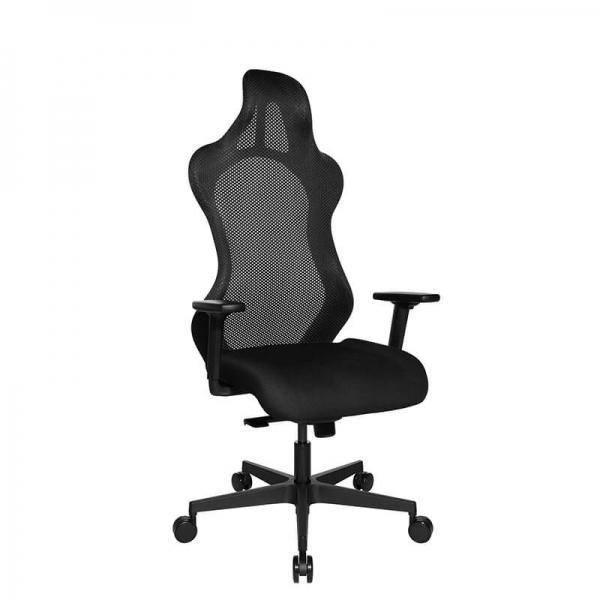 Chaise e-sport design avec roulettes et accoudoirs réglables - Sitness - 42