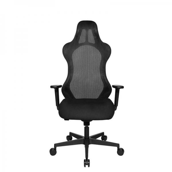 Chaise de gamer noire réglable - Sitness - 45