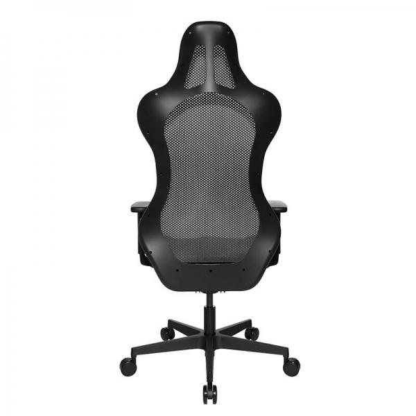Chaise de bureau gaming en tissu noire réglable - Sitness - 46