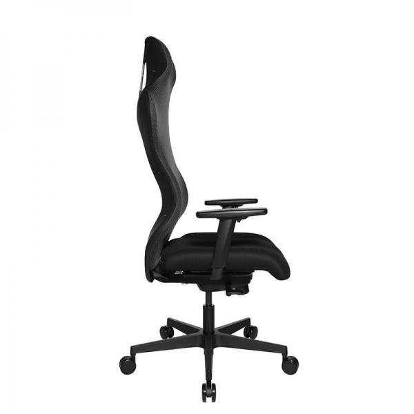 Chaise pour jeux vidéo ergonomique en tissu noir - Sitness - 47