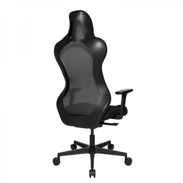 Fauteuil gaming ergonomique en tissu noir - Sitness - 48
