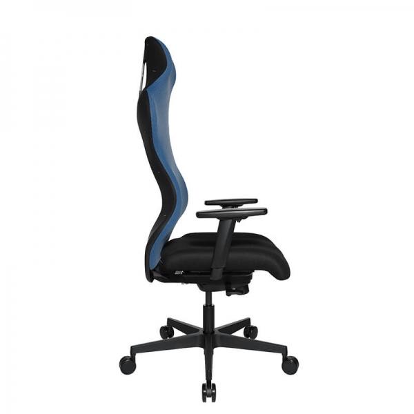 Fauteuil gaming confortable en tissu gris - Sitness - 43