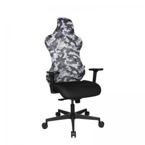 Chaise esport réglable avec dossier en tissu camouflage gris - Sitness