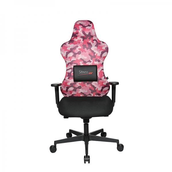 Fauteuil gaming rose avec coussin pour le dos aimanté - Sitness  - 16