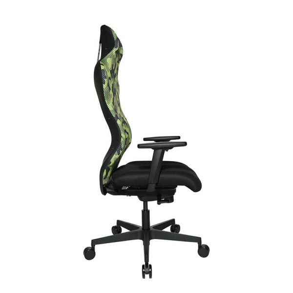 Chaise gaming verte avec assise ergonomique - Sitness - 24