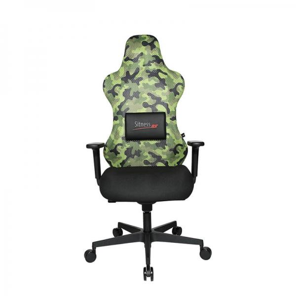 Fauteuil gamer vert avec réglages ergonomiques et coussin lombaire - Sitness - 27